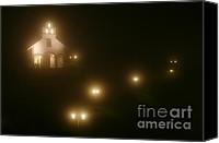 Mission Bells Canvas Prints - Village Church at Night Canvas Print by Matt Tilghman