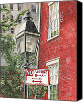 Nyc Canvas Prints - Village Lamplight Canvas Print by Debbie DeWitt