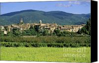 Backdrop Canvas Prints - Village of Lourmarin. Luberon. Vaucluse Canvas Print by Bernard Jaubert