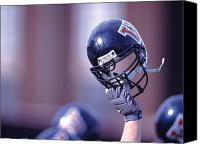 Team Canvas Prints - Villanova Helmet Canvas Print by Jerry Millevoi
