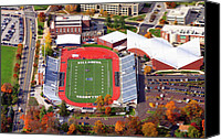 Aerial Canvas Prints - Villanova Stadium 800 East Lancaster Avenue Jake Nevin Fieldhouse Villanova Pa 19085  Canvas Print by Duncan Pearson