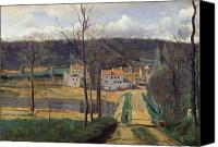1875 Canvas Prints - Ville dAvray Canvas Print by Jean Baptiste Camille Corot