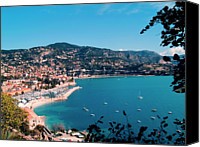 Beauty Canvas Prints - Villefranche Sur Mer Canvas Print by FCremona