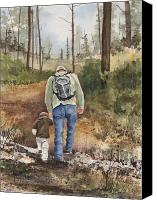 Father Painting Canvas Prints - Vince and Sam Canvas Print by Sam Sidders