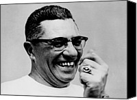 Major Canvas Prints - Vince Lombardi 1913-1970, Coach Canvas Print by Everett