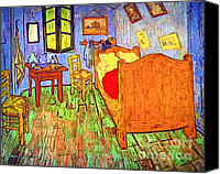 Starry Canvas Prints - Vincent Van Gogh Room Canvas Print by Pg Reproductions