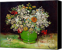 Starry Canvas Prints - Vincent Van Gogh Still Life Canvas Print by Pg Reproductions