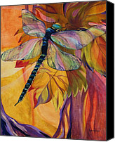 Dragonfly Canvas Prints - Vineyard Fantasy Canvas Print by Karen Dukes