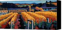 Red Wine Canvas Prints - Vineyard Light Canvas Print by Christopher Mize
