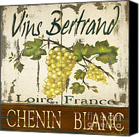 Winery Canvas Prints - Vineyard red wine sign Canvas Print by Grace Pullen