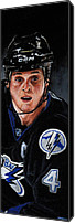 Hockey Painting Canvas Prints - Vinny Lecavalier Canvas Print by Marlon Huynh