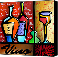 Oil Wine Canvas Prints - Vino Canvas Print by Tom Fedro - Fidostudio