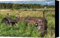 Junk Canvas Prints - Vintage - Massey Harris Tractor Canvas Print by Matt Dobson
