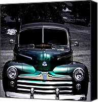 Antique Automobiles Digital Art Canvas Prints - Vintage 1948 Ford Canvas Print by Steven  Digman