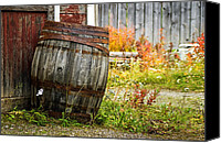 Barkerville Canvas Prints - Vintage Barrel Canvas Print by Wayne Stadler