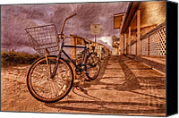 Florida Bridge Canvas Prints - Vintage Beach Bike Canvas Print by Debra and Dave Vanderlaan