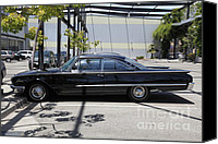 American Car Canvas Prints - Vintage Black Ford Starliner . 5D16707 Canvas Print by Wingsdomain Art and Photography