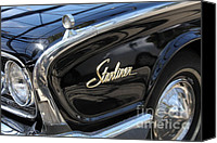 Hotrod Photo Canvas Prints - Vintage Black Ford Starliner . 5D16714 Canvas Print by Wingsdomain Art and Photography