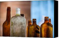Glass Canvas Prints - Vintage Bottles Canvas Print by Adam Romanowicz