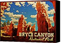 Bryce Canyon Canvas Prints - Vintage Bryce Canyon Canvas Print by Vintage Poster Designs