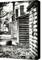 Old Cabins Canvas Prints - Vintage Cabins Canvas Print by John Rizzuto