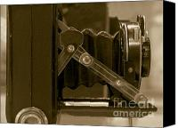 Dial Photo Canvas Prints - Vintage Camera with Bellows Canvas Print by Yali Shi