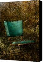 Rural Decay Framed Prints Canvas Prints - Vintage Chair Canvas Print by Larysa Luciw