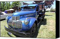 Old Trucks Canvas Prints - Vintage Chevrolet Delivery Truck . 5D16669 Canvas Print by Wingsdomain Art and Photography