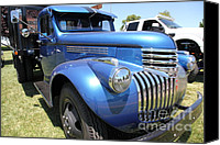 Old Trucks Canvas Prints - Vintage Chevrolet Flatbed Truck . 5D16673 Canvas Print by Wingsdomain Art and Photography