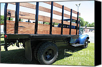 Old Trucks Canvas Prints - Vintage Chevrolet Flatbed Truck . 5D16674 Canvas Print by Wingsdomain Art and Photography