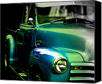 Antique Automobiles Digital Art Canvas Prints - Vintage Chevy 3100 Pickup Truck SIde View Canvas Print by Steven  Digman