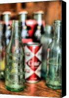 Bottles Canvas Prints - Vintage Chic Canvas Print by JC Findley