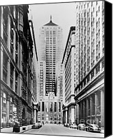 Cbot Canvas Prints - Vintage Chicago Board of Trade Canvas Print by Horsch Gallery