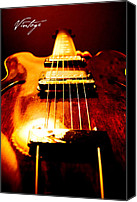 Electric Guitar Canvas Prints - Vintage Canvas Print by Christopher Gaston