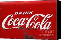 Artyzen Studios Canvas Prints - Vintage Coca Cola Sign 2 Canvas Print by Anahi DeCanio