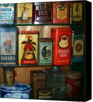 Hot Cocoa Canvas Prints - Vintage Cocoa Containers Canvas Print by Keith QbNyc