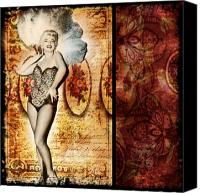 Marylin Canvas Prints - Vintage Collage 5 Canvas Print by Angelina Cornidez
