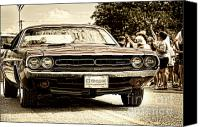 4th July Canvas Prints - Vintage Dodge Charger Canvas Print by Andre Babiak