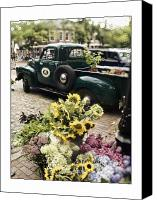 Cape Cod Canvas Prints - Vintage Flower Truck-Nantucket Canvas Print by Tammy Wetzel