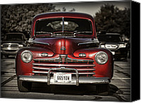 Selective Color Canvas Prints - Vintage Ford Canvas Print by Brian Mollenkopf