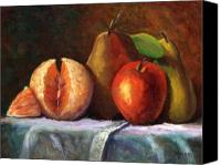 Fruit Canvas Prints - Vintage-Fruit Canvas Print by Linda Hiller