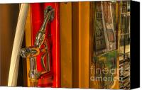 Classic Automobiles Canvas Prints - Vintage Gas Pump Nozzle Canvas Print by Bob Christopher