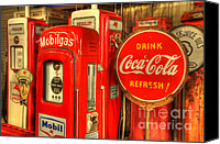 Classic Gas Pumps Canvas Prints - Vintage Gasoline Pumps 2 Canvas Print by Bob Christopher