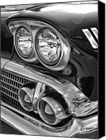 Lights Framed Prints Canvas Prints - Vintage Headlights 2 Canvas Print by Brian Mollenkopf