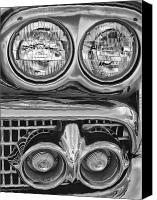 Lights Framed Prints Canvas Prints - Vintage Headlights Canvas Print by Brian Mollenkopf