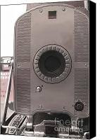 Dial Photo Canvas Prints - Vintage Instant Camera Canvas Print by Yali Shi
