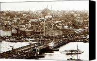 Fine Photography Art Canvas Prints - Vintage Istanbul Canvas Print by John Rizzuto