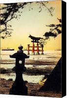 Asian Art Canvas Prints - Vintage Japanese Art 23 Canvas Print by Hawaiian Legacy Archive - Printscapes