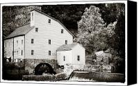 Clinton Photo Canvas Prints - Vintage Mill Canvas Print by John Rizzuto