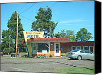 Copper Harbor Canvas Prints - Vintage Motel Canvas Print by Duane Klipping